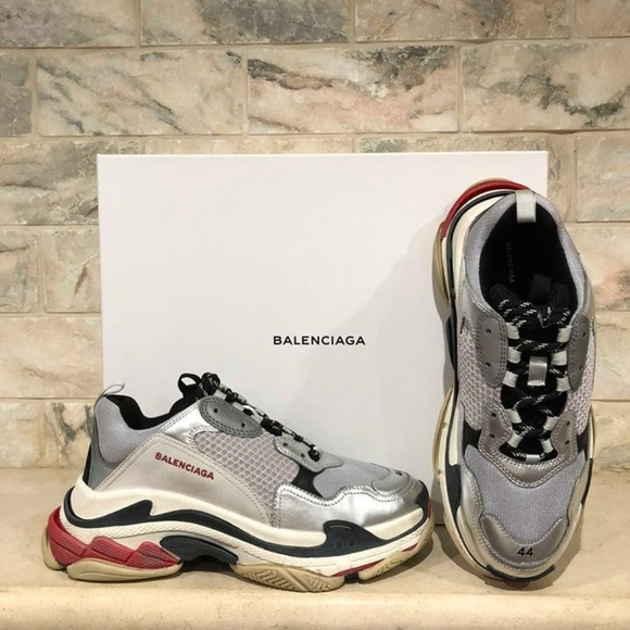 877c19d3506c Balenciaga Triple S Sneaker Silver Grey Red Speed